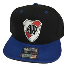 RIVER PLATE SOCCER HAT COLOR BLACK ROYAL SNAPBACK