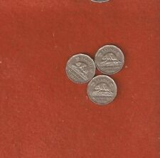 Semi Rare 3 1948 Five Cent Coins Very  Fine Nice Collectable Coins L440