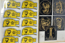 80's Coal Miners Hard Hat Stickers Lot Of Of 17 Never Used