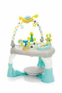 Fillikid Activity-Playcenter Spielcenter Spieltisch grau-blau Walker Lauflerner