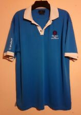 THE OPEN GOLF CHAMPIONSHIP 2017 ROYAL BIRKDALE BLUE AND WHITE POLO SHIRT XXL VGC