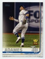 2019 Topps Series 2 WILLY ADAMES Rare ROOKIE CUP SUBSET CARD #562 Tampa Bay Rays