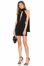 NEW MISHA COLLECTION 'Vita' ROMPER PLAYSUIT SIZE LARGE 8 $295 BLACK NORDSTROM