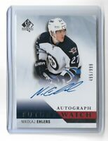 2015-16 SP AUTHENTIC #285 NIKOLAJ EHLERS RC AUTOGRAPH ROOKIE /999 JETS
