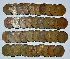 MEXICO lot CINCO CENTAVOS vintage world X foreign Mexican brass 40 COINS