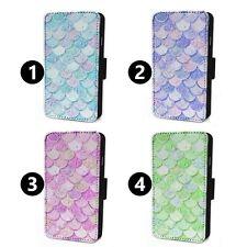 Mermaid Scales Tiles - Flip Phone Case Wallet Cover - Fits Iphone 6 7 8 X 11