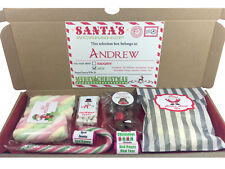Personalised Christmas Eve Selection Gift Box Reindeer Noses Elf Pillows Sweets