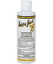 Happy Jack Paracide Flea and Tick Shampoo For Dogs Cats Horses Ferrets  8oz