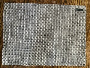New Chilewich Basketweave Bark Beige Brown Placemat Woven Linen Look - Set Of 2