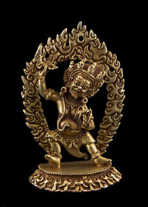 Vajrapani Statue Tibetan Copper Bodhisattva Top Quality 93mm Nepal 26683