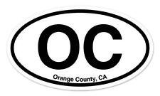 "OC Orange County California Oval car window bumper sticker decal 5"" x 3"""