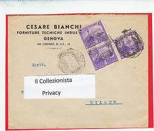 Busta Pubblicitaria Cesare bianchi Forniture tecniche Genova 1940