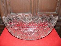 Rarität fast 100 Jahre alte ovale Obstschale Preßglas reich verziert dickwandig