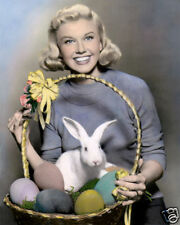 "DORIS DAY EASTER HOLLYWOOD STAR ACTRESS & SINGER 8x10"" HAND COLOR TINTED PHOTO"