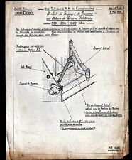 """Concessionnaire AUTOMOBILE CITROEN SUPPORT DYNAMO """"NOTE TECHNIQUE N°384"""" en 1939"""