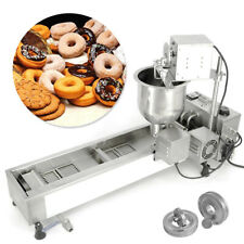 More details for 220v commercial automatic donut maker making machine 3 sets mold wide oil tank