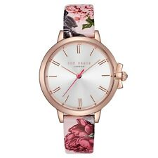 Ted Baker Designer Watch - TE50267001 - Floral Leather Strap - RRP £145