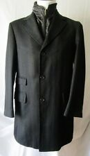 ***FACIS CAPPOTTO Coat TG.50R LANA, GILET INTERNO, Colore NERO Cod. AS