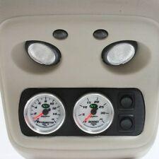 """01-07 Chevy Silverado Billet Console Gauge Mount Two 2"""" Gauges Duramax Switch BK"""