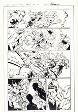All-New X-Men #13 p.15 - Romeo and Iceman vs. Moth - 2016 art by Mark Bagley