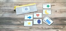 Shapes Flash Cards Preschool Laminated NEW Comes with Zip Pouch