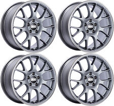 "BBS CH-R WHEELS 18X8.5"" 5x112 +47 47MM 47 OFFSET CHR139 RIMS SATIN TITANIUM"