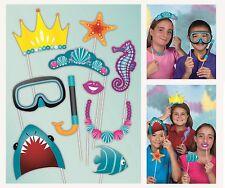 TEMA SUBACQUEO Photo Booth foto sostegni Party Kit contiene Set 10 Accessori
