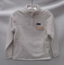 Patagonia Girls/Kids Re-Tool Snap-T Pullover 65586 Raw Linen White Extra Large