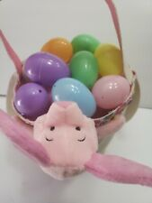 Easter Basket,  Easter Egg Hunt, Custom Easter Basket hand Decorated piglets
