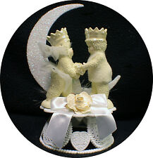 Your my Queen Wedding Cake Topper Snow Dream Princess & Prince Bride Groom top