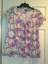 Ladies Shirt By Daisy Fuentes Moda Size L In Good Pre-owned Condition!