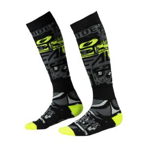 O'Neal Pro MX Men's Socks - RIDE Blk/Neon - Dirt Bike Motocross - Adult One SIze