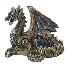 MECHANICAL HATCHLING STEAMPUNK DRAGON FIGURE GOTHIC GIFT 11cm