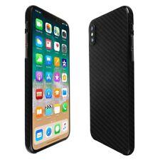 Skinomi Black Carbon Fiber Skin Clear Screen Protector for Apple iPhone X