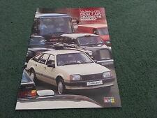 October 1984 VAUXHALL DIESEL CARS - Astra Cavalier Carlton - UK BROCHURE - V6095
