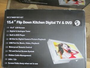 easycom 15.4 flip down kitchen digital tv & dvd 240v / 12v