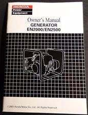 2001 HONDA PORTABLE POWER GENERATOR EN2000 & EN2500  OWNERS MANUAL NEW  (817)
