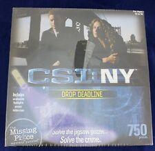 CSI NY NEW YORK Puzzle 750 Pieces Sealed DROP DEADLINE Murder Mystery NIB
