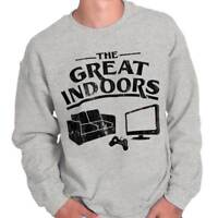 Great Indoors Funny Shirt Couch PC Gamer Video Game PS4 Xbox Crewneck Sweatshirt