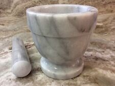 """Mortar And Pestle. Norpro. 4""""x4"""". Gray And White Marble. New."""