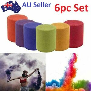 6X Coloured Smoke Effect Round Bomb Stage Party Show Photography Cake Props Kit