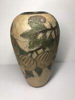 Petit Vase Vintage En Laiton Peint H 13,5 D 8 Cm Voir Photos