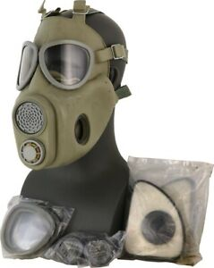 Czech m10 Gas Mask Military Surplus NBC full face w/ filters Survival