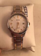 Seiko Quartz Ladies Silver Dial Two Tone Bracelet Watch SUR843-HU