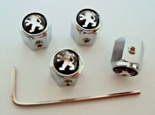 Peugeot Black/Silver Dust Caps / Locking, Valve Caps