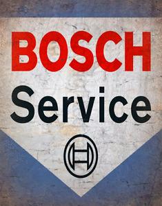 BOSCH SERVICE  RETRO GARAGE METAL TIN SIGN POSTER WALL PLAQUE