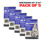 5 Pack Emergency Solar Blanket Packets Insulating Thermal Heat Survival Gear