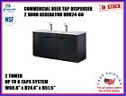 Commercial Beer Kegerator 2 Tower 2 Tap Dispenser Back Bar Refrigerator NSF Keg
