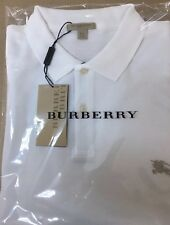 Burberry Brit Men's Check Placket Polo Shirt White