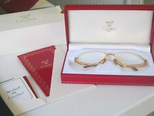 Vintage Must de Cartier Eyeglasses 135 + Red Case + Papers + Box Authentic